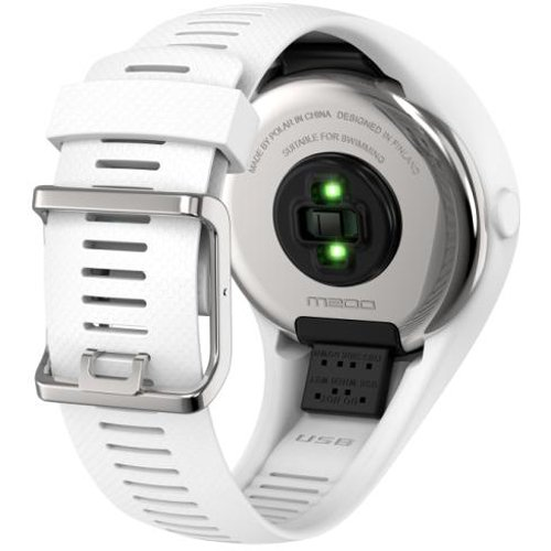 Polar M200 GPS Running Watch with Wrist-Based Heart Rate - White/Small-Medium with Bonus Cinch Bag by Polar (Image #2)