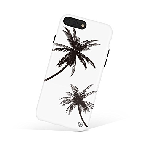 Girls Apple Tree - iPhone 8 Plus/7 Plus case for girls, Akna Get-It-Now Collection Flexible Silicon Case for both iPhone 8 Plus & 7 Plus [Black Palm Trees](609-U.S)