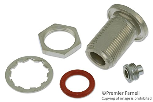 RF / Coaxial Connector, N Type, Straight Bulkhead Jack, Crimp, 50 ohm, RG402, Beryllium Copper