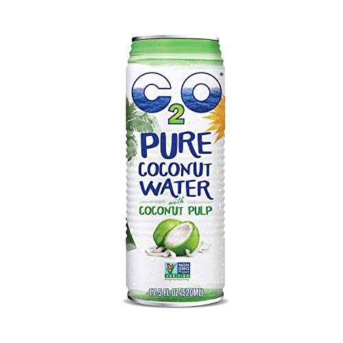 C2O Pure Coconut Water with Pulp | Plant Based | Non-GMO | No Added Sugar | Essential Electrolytes | 17.5 FL OZ (Pack of 12) 2