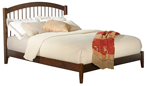 (Atlantic Furniture AP9441004 Windsor Platform Bed with Open Foot Board, Queen, Walnut)