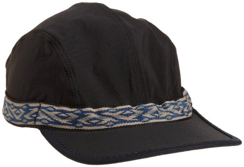 KAVU Synthetic Strapcap, Black, Medium (Webbing strap color/style may vary)