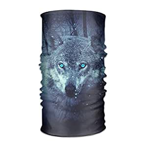 xcvzcxvzxcb Wild Wolf Blue Eyes Scary Snowfall Winter Headwear ...