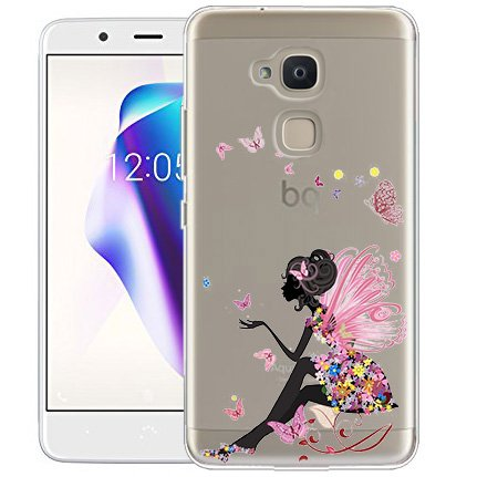 Langlee Funda BQ Aquaris V Plus/VS Plus, Carcasa Silicona Gel Slim Fit Case Transparente TPU Goma Bumper Anti-rasguños Flexible Cover para BQ Aquaris ...