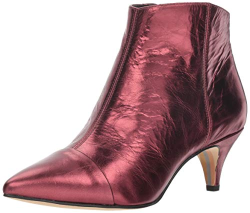 Dark Women's Ankle Leather Cherry Boot Edelman Sam 2 Kinzey Metallic aqYpW5w