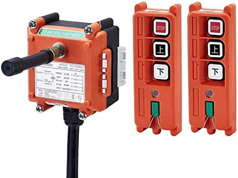Color: 18to65V VHF310to331 Calvas Telecontrol F21-2S industrial radio remote control AC//DC universal wireless control for crane 1transmitter and 1receiver