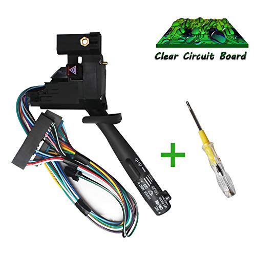 (Beneges Multi-Function Combination Switch Turn Signal, Wiper, Washers, Hazard Switch, Cruise Control Compatible with 1995-2002 Chevrolet Tahoe Blazer GMC Yukon Cadillac 26100985, 26036312)