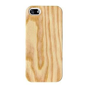 Luz grano de madera textura Full Wrap Case, para iPhone 5/5S Impreso en 3d de alta calidad de UltraCases