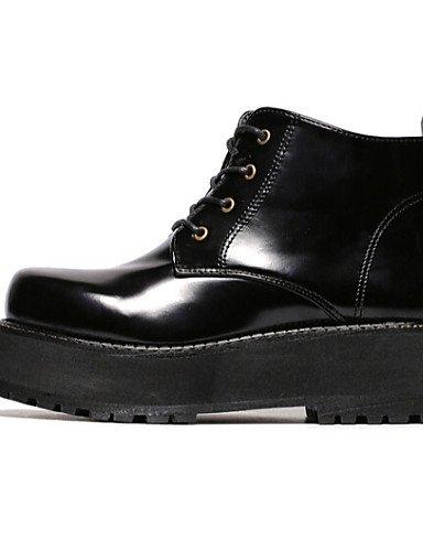 Eu39 Caqui us8 Negro Comfort Zapatos Mujer Semicuero Black Botas De Uk6 Exterior Cn39 Plataforma Xzz qZPw7zq