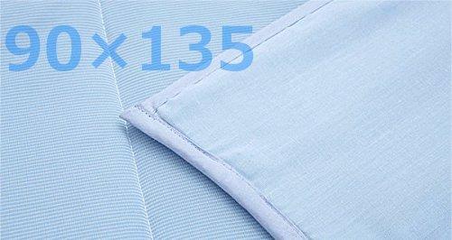 ヒラカワ接触冷感(軽量)パッド一体型ひんやりジェルマット(90×135)※ひんやりクールスカーフ付特別セット(T&H) B00M1IM110