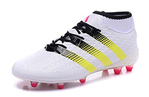 研究所職業水銀のメンズAce 16.1 Primeknit fg-agホワイトHigh Top Footballサッカーブーツ靴