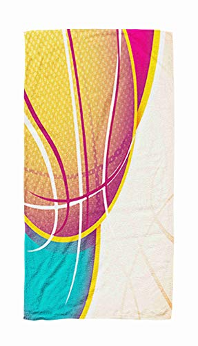 Shorping Travel Swim Towel,Illustrated Basketball Banner 30x60 Inch Large Pool Towels for Body Bath,Swimming,Travel,Camping,Sport