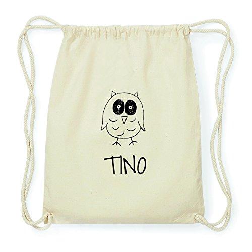 JOllipets TINO Hipster Turnbeutel Tasche Rucksack aus Baumwolle Design: Eule