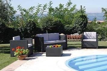 salon de jardin diva confort 4 places: Amazon.fr: Jardin