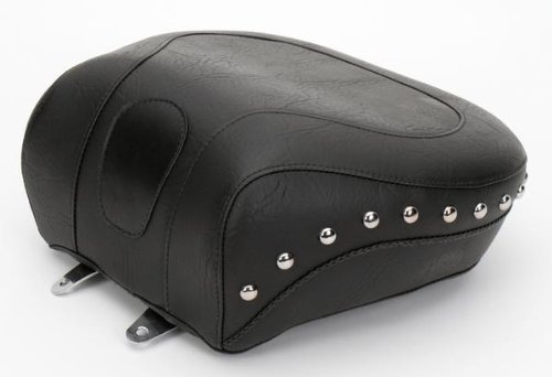 (Mustang Motorcycle Seats Wide Touring Studded Recessed Rear Seat)