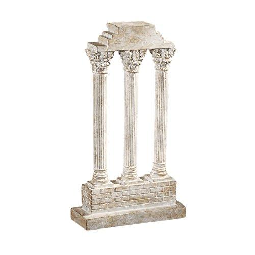 (Design Toscano Roman Forum Temple of Castor and Pollux Straight Column in Stone)