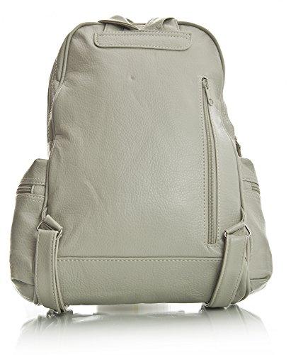 à Handbag Big dos 2 Taupe main pour au Design amp; femme Sac Shop Beige porté Trim dtwWWxq4r