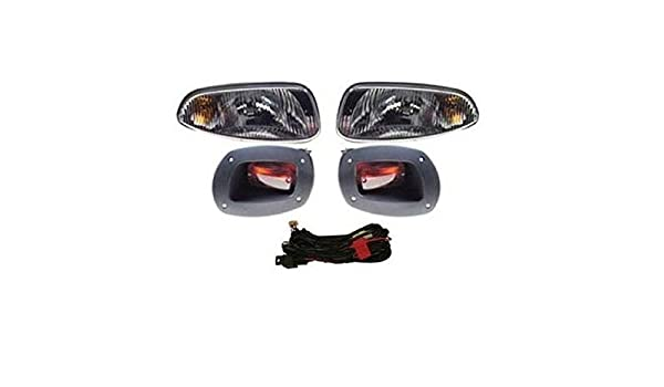 Amazon golf cart ezgo rxv golf cart complete head light amazon golf cart ezgo rxv golf cart complete head light tail light kit 08 sports outdoors sciox Images
