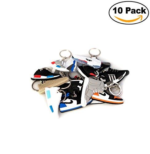xxiii - Jays Retro NMD Yeezy Boost Kicks Sneakerhead Collectible Random Packs Rubber Keychains (Sneaker Keychain)