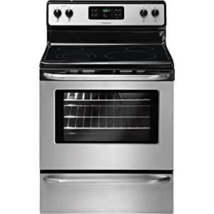 """Frigidaire FFEF3043LS 30"""" Freestanding Electric Range with Ready-Select Controls and SpaceWise Expanda, Stainless Steel"""