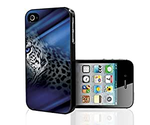 Cheetah Animal Art with Blue Eyes Hard Snap on Phone Case (iPhone 4/4s) by lolosakes