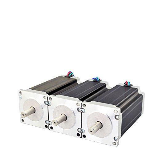 - STEPPERONLINE 3PCS 3Nm Nema 23 Stepper Motor 4.2A 4-wires 10mm Shaft DIY CNC Mill Lathe Router