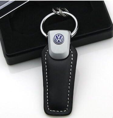 Vw Schlüsselanhänger Golf Leder Volkswagen Key Ring Silber Metall Blau Schwarz Koffer Rucksäcke Taschen