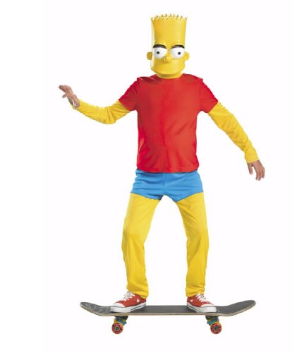 The Simpsons Bart Simpson Deluxe Child Costumes (The Simpsons Bart Simpson Deluxe Costume, Red/Yellow/Blue, Large/10-12)