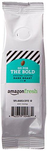AmazonFresh Go For The Bold, 100% Arabica Coffee, Dark Roast, Ground, 1.75 Ounce