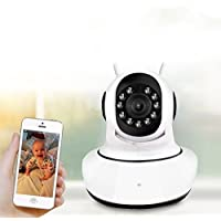 Dome Home Camera Wireless IP Wifi Security Camera Kids/Pets Surveillance System Pan/Tilt/Zoom 720p HD Night Vision with Video/Audio smart outdoor kids children pets security camera