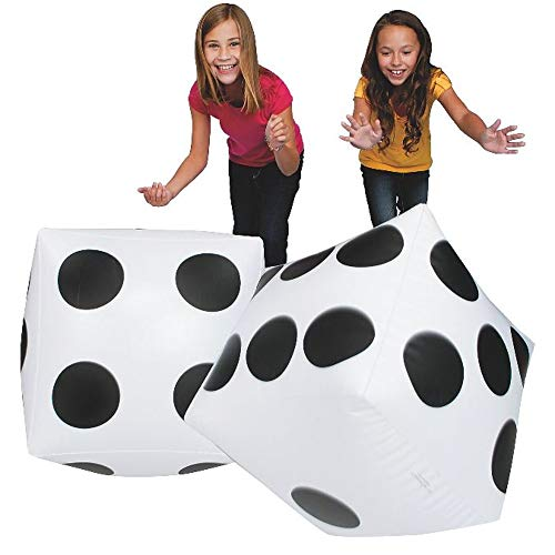 S&S Worldwide 17750 Jumbo Inflatable Dice (Pair), (Pack of 2) -