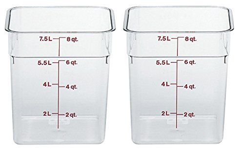 (1, 11.4l With Lid) - Cambro 12SFSCW135 Camwear Polycarbonate Square Food Storage container, 11.4l With Lid B07FC5B8V4 12 Quart With Lid 1  12 Quart With Lid