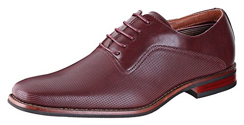 Ferro Aldo Mens lalo Oxford Dress Shoes | Comfortable Dress Shoes | Formal | Lace-Up | Classic Design | Wine 13