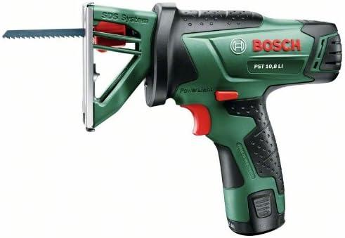 Bosch Home and Garden 0603011003 Sierra de calar de batería de Litio, 10.8 W, 10.8 V, Negro, Verde