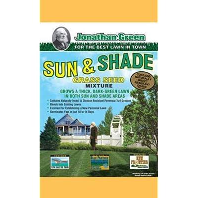 Jonathan Green 12005 Green Sun and Shade Grass Seed Mixture, 7 lbs : Garden & Outdoor