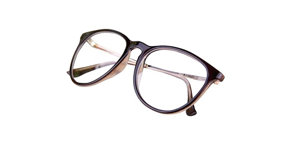 Brown Fashion Classic Trendy Vintage Retro Clear Lens Nerd Glasses Eyeglass Spectacles