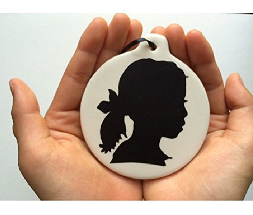 Custom Silhouettes on Porcelain Ornament