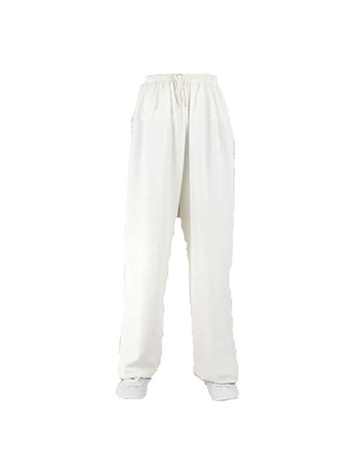 DianshaoA Pantalones de algodón y Lino de Tai Chi Hombres y Mujeres Deportes, práctica Yoga Artes Marciales Pantalones de Baile
