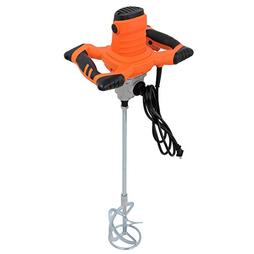 ZENY 1600W Pro Mixer Stirring Tool Handheld Electric Cement Mixer for Mortars Concretes Grouts w/ 6 Adjustable Speed Control