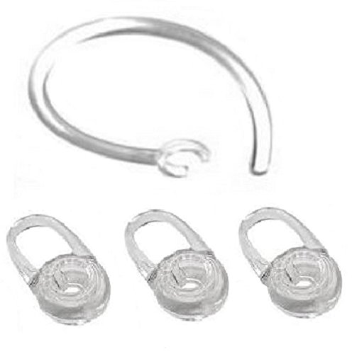 3 Replacement Eargel and 1 Earhook For Plantronics M70, M90, Voyager Edge ()