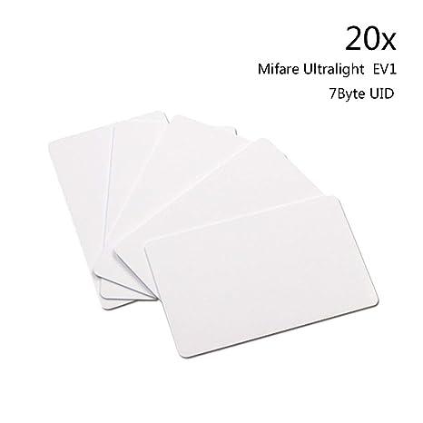20pcsMifare® Ultralight EV1 Blank 128 Byte- Tarjeta de Chip Blanca ...
