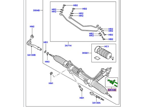 Genuine LAND ROVER STEARING GEAR TRANSDUCER KIT RANGE ROVER 03-12 QFW500040 by Land Rover