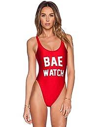 Women Sexy Backless Bae Watch Swimsuit