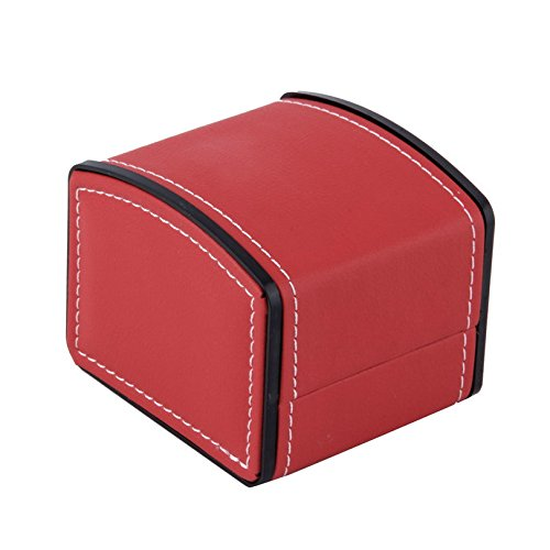 Leather Watch Box with Pillow Watch Packaging For Bangle Earring Wrist Watch-Red from Fashion?Life