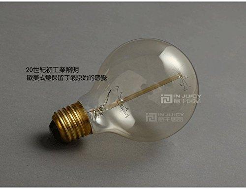Injuicy Lighting Pack of 4 Loft E27 Edison Halogen Bulb Light Retro Lamp Retro Vintage G80 40W AC120V OR 220V