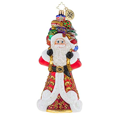 Christopher Radko It Ain't Heavy Santa Glass Ornament
