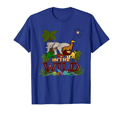 In The Wild Jungle Theme VBS Camp Vacation Bible School Zoo T-Shirt]()