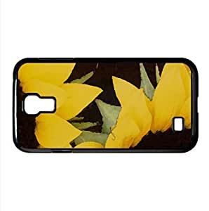 Sunflowers 1 Watercolor style Cover Samsung Galaxy S4 I9500 Case (Flowers Watercolor style Cover Samsung Galaxy S4 I9500 Case)