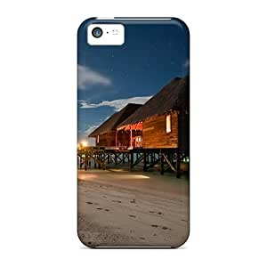 Durable Resort Bungalows Back Case/cover For Iphone 5c