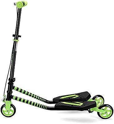 Patinete- Kick Scooter Verde con Freno De Mano, Plegable ...